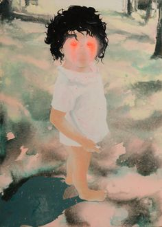 KRISTÍNA MÉSÁROŠ _ LITTLE ONE  2009  AKRYL NA PLÁTNE | ACRYLIC ON CANVAS  100 X 70 CM