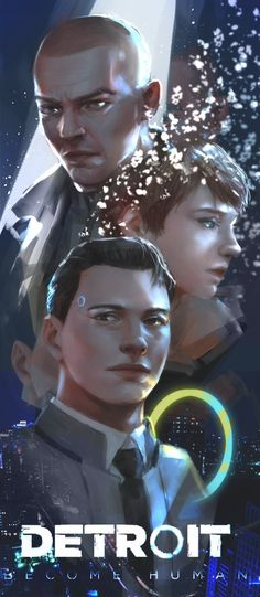Detroit become human Connor, Markus, Kara
