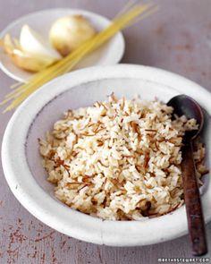 Rijst pilaf met pecannoten