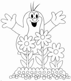 16 The Mole printable coloring pages for kids. Find on coloring-book thousands of coloring pages. Coloring Pages For Kids, Coloring Sheets, Coloring Books, The Mole, Colorful Garden, Baby Games, Printable Coloring Pages, Animal Drawings, Diy And Crafts