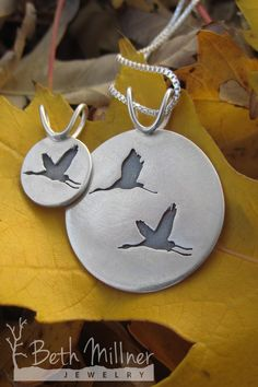 Did you know sandhill cranes partner for life? We love the simple elegance of these birds and the special bond this pendant represents.