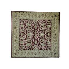 awesome Burgundy Square Rajasthan Hand Knotted Oriental Rug (10' x 10'2) Check more at http://yorugs.com/product/burgundy-square-rajasthan-hand-knotted-oriental-rug-10-x-102/