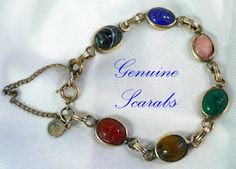 Classic Genuine Gold & Scarab Bracelet  by MarlosMarvelousFinds, $34.99