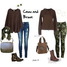 Over 40 Fashion- Camo & Brown fall/winter outfits Camouflage Leggings, Sheik, Nice Outfits, Fall Trends, Fall Winter Outfits, Dress To Impress, Outfit Ideas, Fashion Looks, Military
