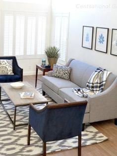Sea Inspired Summer Living Room | Centsational Girl