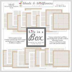 LIFE in a BOX - 12x12 Templates Set #2 - Recreate