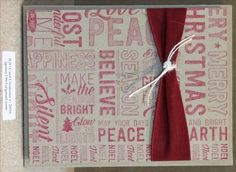 Christmas card, clean & simple, background stamp by Stampin' Up