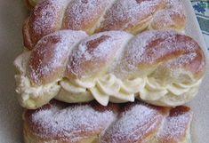 Ezzel a vaníliás krémmel töltött finomsággal már régóta szemezek,de most végre sorra került,meg sütöttem én is. Hozzávalók: 60 dkg li... Hungarian Cake, Hungarian Recipes, Hungarian Food, Chocolate Cheesecake, Oreo, Sausage, French Toast, Bakery, Deserts