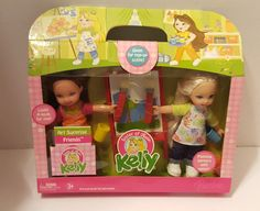 """AMAZON"" sized KELLY AND GIA ART SURPRISE FRIENDS 2006 NRFB #Mattel #DollswithClothingAccessories"