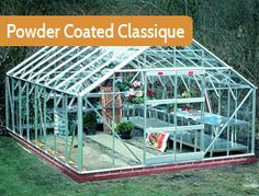 """12ft5"""" wide in multiple lengths. Painted version of the stunning and practical Classique. Elite recommend building a brick base for extra stability and strength."""