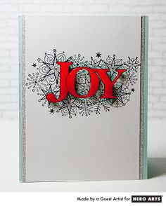 Add some shine to a stamped image with Glossy Accents. Card by Mary Dawn Quirindongo for Hero Arts.