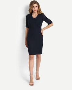 Buy Blue Amelia Pencil Dress Online at StalkBuyLove  733d0a47c