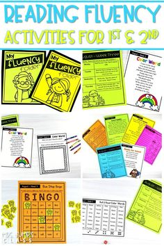 Reading fluency activities to help you focus on fluency in your classroom. Weekly fluency activities that can be completed in class or sent home for homework. These are the perfect addition to your school year! #readingfluency #fluencyfocus #firstgrade #secondgrade