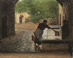 Luigi Monteverde (detto il Raffaello dell'uva) (1843-1923) was a Swiss painter born in Lugano. He became famous as a genre painter of fashionably dressed women shown in various scenes of everyday life. Luigi Monteverde is known also for figure and still life painting.