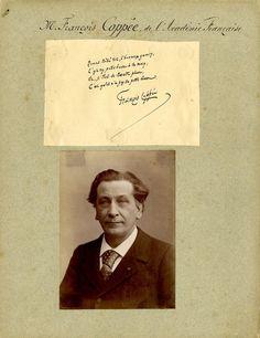 Autographe, François Coppée    #Personnalités_du_XIXe_siècle #Ecrivains