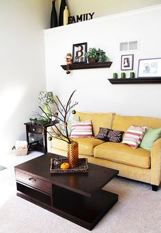 Looking for ideas to replace fake plants on our ledge. Love this.