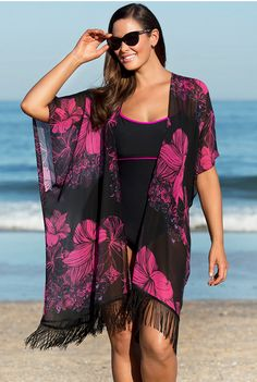 Cheap boho kimono, Buy Quality kimono cardigan directly from China tassel blouse Suppliers: Women Vintage Boho Kimono Cardigan Blouse Shirt Summer Chiffon Cover Up Tops Tassels Blouses Women Clothing Swimwear Cover Ups, Bikini Cover Up, Swimsuit Cover Ups, Boho Kimono, Floral Kimono, Kimono Cardigan, Fringe Kimono, Black Kimono, Kimono Style