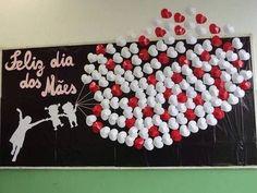 Mother's Day Bulletin Boards for Preschool - Preschool and Kindergarten Kids Crafts, Diy And Crafts, Paper Crafts, Mothers Day Decor, Mothers Day Crafts, Happy Mom, Happy Mothers Day, Mather Day, Tribute