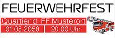 Coole Eventbanner individuell erstellen und bequem nach Hause schicken lassen #bannerversand #werbebannerwerbung #feuerwehr #fest #party