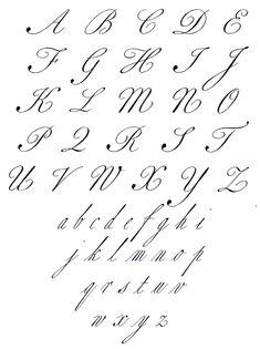Tattoo Fonts Cursive Alphabet Modern Calligraphy Ideas For 2019 Alphabet Cursif, Calligraphy Fonts Alphabet, Tattoo Fonts Cursive, Handwriting Alphabet, Hand Lettering Alphabet, Penmanship, Fake Calligraphy, Lettering Tattoo, Copperplate Calligraphy
