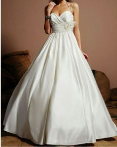 76.93$  Watch here - http://vifye.justgood.pw/vig/item.php?t=omcwdq339883 - Eden Sweetheart strapless 1381 wedding Dress Size 4 empire A-line satin floor