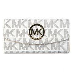 Michael Kors Black/White Fulton Carryall Logo-Print Wallet