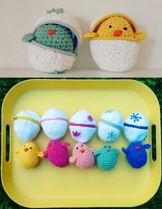 So adorable!   Easter Crocheted (Amigurumi) Chicks // Etsy Wednesday: 7 Egg-cellent Easter Decorations