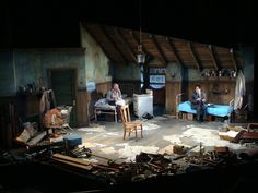 Pinter's The Caretaker. Set designer Jonathan Wentz has created an attic room full of junk but still leaving ample playing space for the very physical dynamics that Hill's directing brings out in the actors.