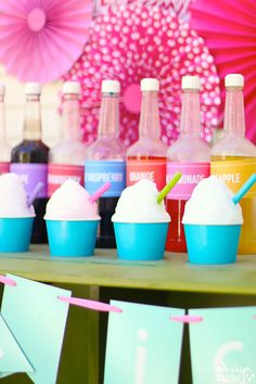 Diy Crafts : Illustration Description If you're looking for the perfect inexpensive summertime treat for your guests of all ages then shaved ice is your answer! Crafting is just…Fun! Shave Ice Syrup Recipe, Shaved Ice Recipe, Outdoor Fun For Kids, Summer Fun For Kids, Kids Party Themes, Kid Parties, Party Fun, Party Ideas, Ice Shavers