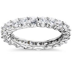 3 1/2CT Diamond Eternity Ring 14K White Gold – Red Pelican Gifts
