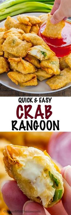 This Crispy Crab Rangoon recipe is easy to make and tastes better than your favorite restaurant! These crispy crab and cream cheese filled wontons can be baked or fried!