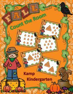 Fall Count the Room Freebie Kindergarten Freebies, Kindergarten Lesson Plans, Kindergarten Teachers, Kindergarten Activities, Elementary Teaching, Number Sense Activities, Fun Classroom Activities, Fun Math, Halloween Math