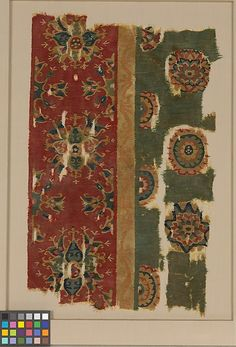 Woven Tapestry Fragment Object Name: Fragment Date: mid-8th century Geography: Iran, Iraq, or Egypt Culture: Islamic Medium: Wool; tapestry weave Accession Number: 50.83