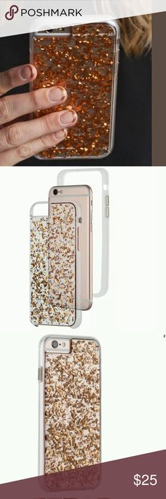 NIB Case Mate iPhone 6/6s Karat Rose Gold Case Inspired by the Lucite handbags of the 1950s and 1960s, this translucent case showcases stunning metallic highlights inlaid into acrylic to create a radiant rose gold display for your iPhone 6/6s. This chic case has an ultra slim, dual-layer design with protective bumper, enhanced impact resistance and shock dispersion. The box shows wear from storage, but the item is new in the box. Case-Mate Accessories Phone Cases