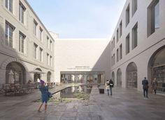 LAN . Bonnat-Helleu City Art Museum . Bayonne (3) Lan Architecture, Contemporary Classic, Modern, Lobby Interior, City Art, Art Museum, Street View, Exterior, Patio