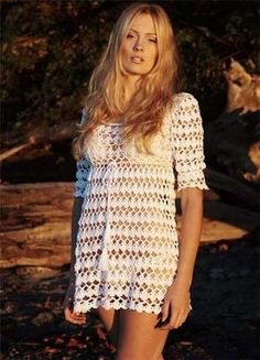 Inspirações de Croche com Any Lucy: Saída de Praia ou Vestido