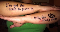Five Finger Death Punch lyric tattoo from The Pride