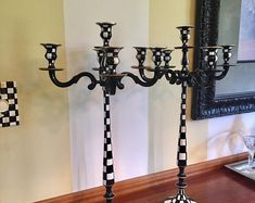 Whimsical Painted Floor Lamp, Painted Lamp, Floor Lamp, Custom Painted Lamp hand painted home decor Painted Candlesticks, Painted Lamp, Painted Frames, Long Candles, Silver Tea Set, Painting Lamps, Lazy Susan, Hand Painted Furniture, Custom Paint