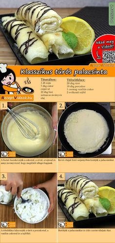 Klassischer Quarkpfannkuchen A classic quark pancake for dessert will make the whole family happy! Quark Pancake Recipe Video is easy to find using the QR code :] cheese pancakes Homemade Pancakes, Homemade Cake Recipes, Breakfast Recipes, Dessert Recipes, Desserts, Best Pancake Recipe, Crepes And Waffles, Hungarian Recipes, Food Videos