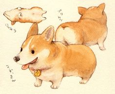 Wish I knew the artist of this amazingly adorable corgi!