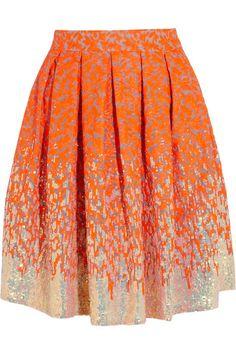 Matthew Williamson Winter Garden embellished organza skirt