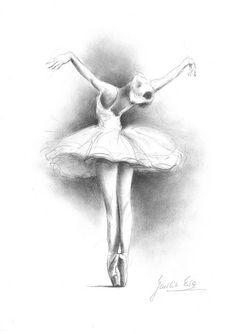 Ballerina-Print Ballerina Skizze drucken Zeichnung von EwaGawlik
