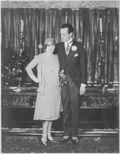 Ouida and Basil on their wedding day, April 1926