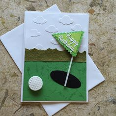 Handgemachte Golf Geburtstagskarte