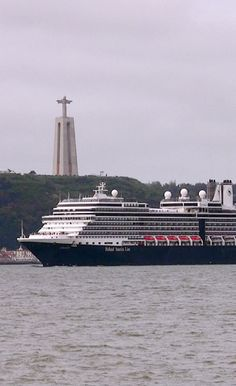 Holland America Line, Eurodam cruise ship in Lisbon. Built by Fincantieri, she is the largest in the HAL fleet.