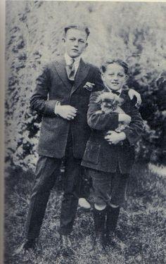 John Wayne (real name Marion Morrison) with brother Robert