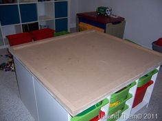 Could make a cute desk/work table for the kids homeschool and has added storage to boot!