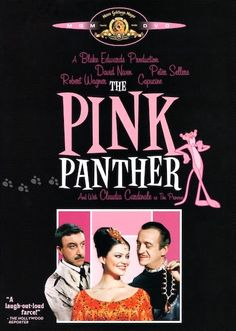 The Pink Panther with David Niven, Peter Sellers, Robert Wagner, Claudia Cardinale; directed by Blake Edwards, who co-wrote the screenplay; music by Henry Mancini Famous Movies, Old Movies, Great Movies, Vintage Movies, Beau Film, See Movie, Film Movie, John Le Mesurier, Rosa Panther