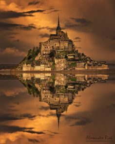 Golden Stronghold by Alexander Riek #reflection
