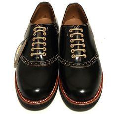 Regal Shoe Co. & Glad Hand - Black Saddle Shoes